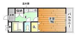 アドバンス阪南[7階]の間取り
