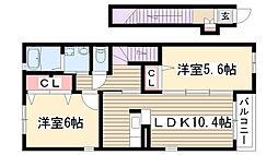 [テラスハウス] 愛知県名古屋市名東区西里町5丁目 の賃貸【/】の間取り