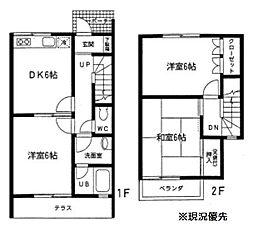 [テラスハウス] 神奈川県横浜市都筑区牛久保西1丁目 の賃貸【/】の間取り