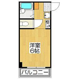 ドミール松田[20B号室]の間取り