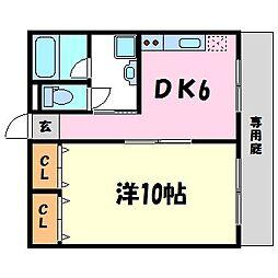 兵庫県西宮市石在町の賃貸マンションの間取り