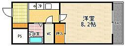 第2コーポ朝倉[107号室]の間取り