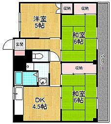 VILLAGE HOUSE−ビレッジハウス春日[4階]の間取り
