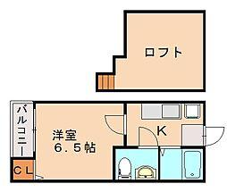 koko pendio平尾I[1階]の間取り