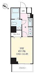 東京メトロ南北線 東大前駅 徒歩4分の賃貸マンション 3階1Kの間取り