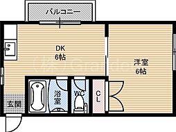 ラウンドII大儀[3階]の間取り