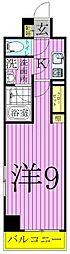 アルテカーサアリヴィエ東京EAST[2階]の間取り