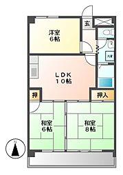 ロイヤルメゾン城見台[7階]の間取り