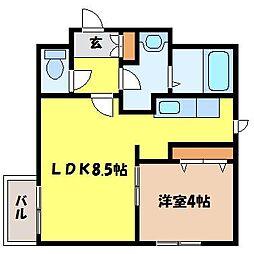北海道札幌市北区北二十一条西4丁目の賃貸マンションの間取り