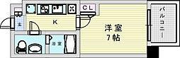 阪急宝塚本線 三国駅 徒歩5分の賃貸マンション 10階1Kの間取り