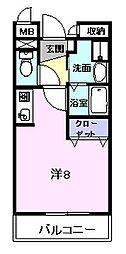 ウエスビュー[3階]の間取り