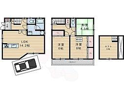 Osaka Metro谷町線 大日駅 徒歩18分の賃貸一戸建て 1階3LDKの間取り