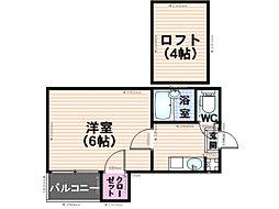 タウンコート井尻[102号室]の間取り