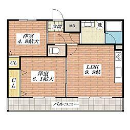 アルデール・ブリサ[2階]の間取り