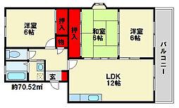 レークサイドパーク2[402号室]の間取り