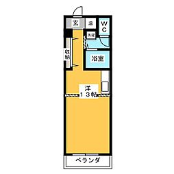 カーサ新町[4階]の間取り