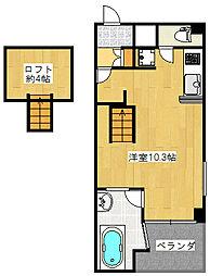 DUO GRAND梅田東[4階]の間取り