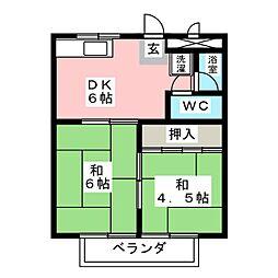 コーポ北宿[1階]の間取り