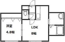 セントラルリッツ30[1階]の間取り