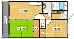 GRANVIA東合川[302号室号室]の間取り