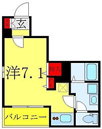 サダルスウド 1階ワンルームの間取り
