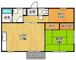 小浜YHハウス[201号室]の間取り