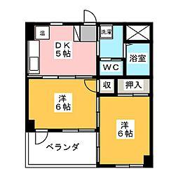 スクウェアーコート[2階]の間取り