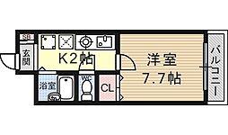 南滋賀ヒューマンハイツ[205号室号室]の間取り