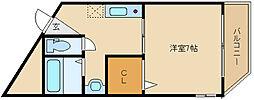 コンフィメゾン柏原[2階]の間取り