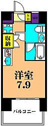 JR京浜東北・根岸線 大井町駅 徒歩8分の賃貸マンション 8階ワンルームの間取り