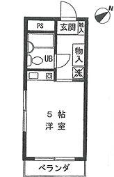 神奈川県横浜市磯子区馬場町の賃貸マンションの間取り