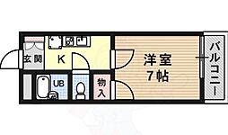 JR東海道・山陽本線 摂津富田駅 徒歩17分の賃貸マンション 1階1Kの間取り