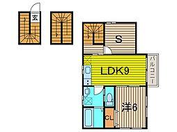 (仮称)SFA新築アパート[301号室]の間取り