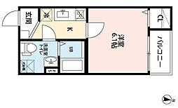 アヴニール金山[1階]の間取り