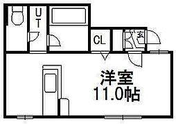 北海道札幌市豊平区平岸三条4丁目の賃貸アパートの間取り