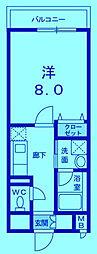 ポルト・ソーレ[4階]の間取り