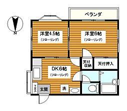 神奈川県横浜市神奈川区浦島丘の賃貸マンションの間取り