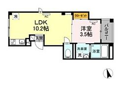 skye広尾 5階1LDKの間取り