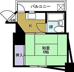 シャトー元町 九条[2階]の間取り