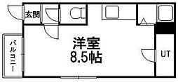 ヒルクレスト円山公園[1階]の間取り