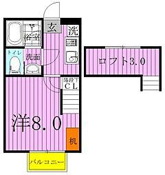 ユーフラット天王台[202号室]の間取り