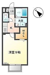 三重県桑名市大字星川の賃貸アパートの間取り