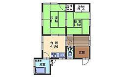 広島県呉市阿賀中央1丁目の賃貸アパートの間取り