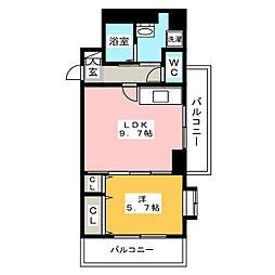 B・Jハウス博多[7階]の間取り