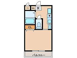 兵庫県尼崎市潮江2丁目の賃貸マンションの間取り