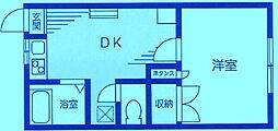 ドミール・ドゥ[1階]の間取り