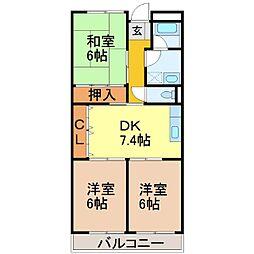SIXTH AVENUE[3階]の間取り