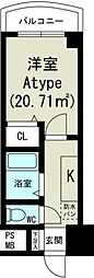 ノルデンハイム新大阪[5階]の間取り