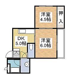 AISマンション[401号室]の間取り