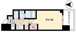 S-RESIDENCE本郷 12階1Kの間取り